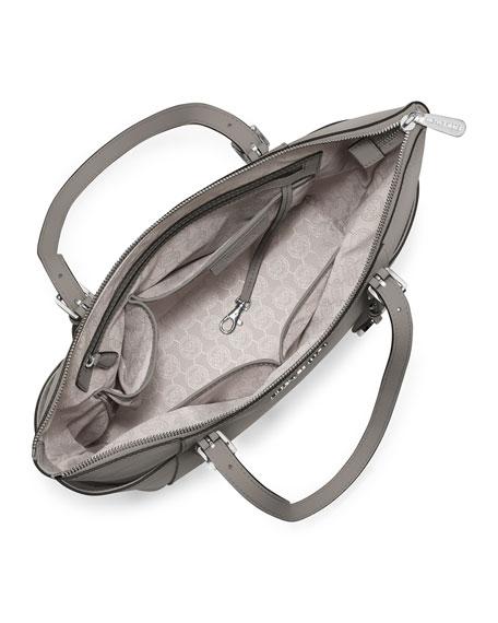 6a3a7c86683b MICHAEL Michael Kors Jet Set Top-Zip Saffiano Tote Bag, Pearl Gray