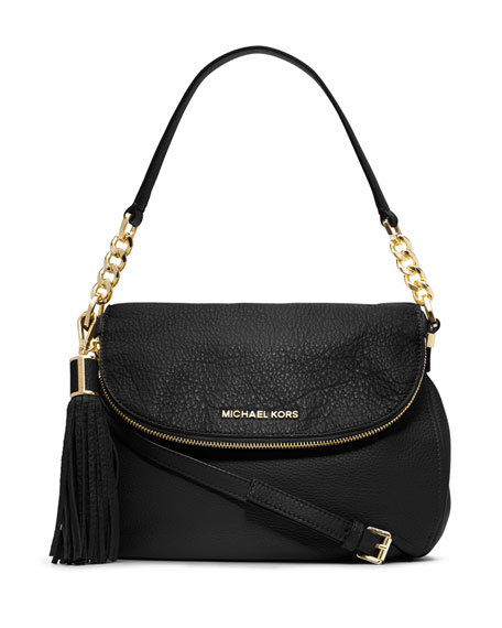 MICHAEL Michael Kors Bedford Medium Tassel Convertible Shoulder Bag, Black