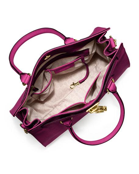 Hamilton Large Saffiano Tote Bag, Fuchsia