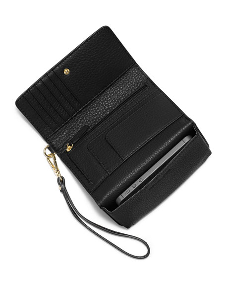 f774952886f3 MICHAEL Michael Kors Fulton Large Multifunction Smart Phone Wristlet Wallet,  Black