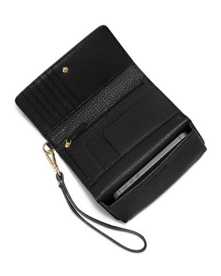 Fulton Large Multifunction Smart Phone Wristlet Wallet, Black