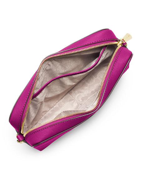 5855828eb4ccd9 MICHAEL Michael Kors Jet Set Travel Large Saffiano Crossbody Bag, Fuchsia