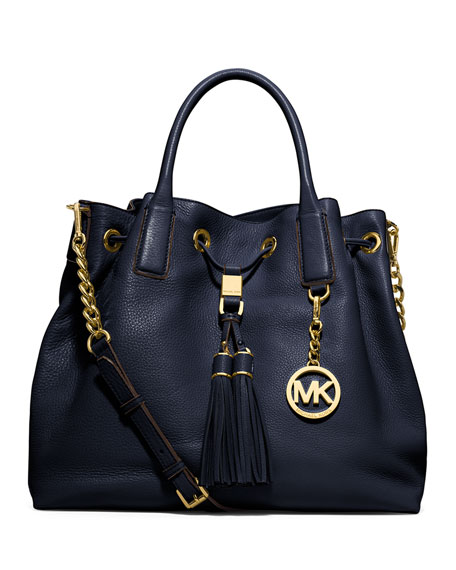 MICHAEL Michael Kors Camden Large Drawstring Satchel Bag, Navy