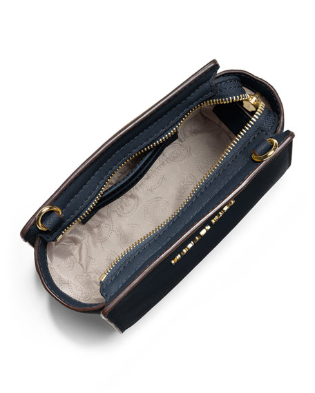 Selma Mini Saffiano Messenger Bag, Navy