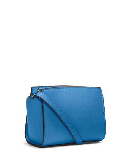 Selma Mini Saffiano Messenger Bag, Heritage Blue