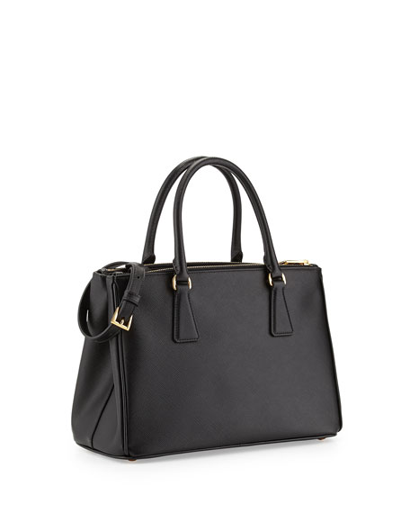 Saffiano Small Double-Handle Tote Bag, Nero (Black)