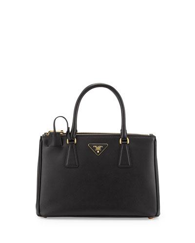 Saffiano Small Double-Handle Tote Bag, Nero (Black)