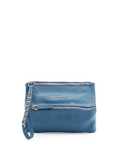 Pandora Wristlet Leather Pouch, Blue