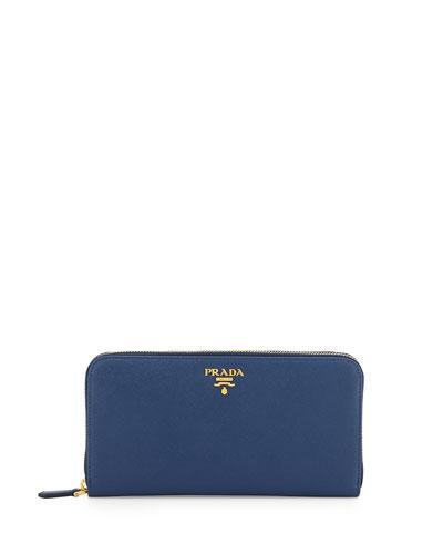 31e37b01e9c8f6 ... spain prada saffiano organizer wallet dark blue bluette aba44 657bb