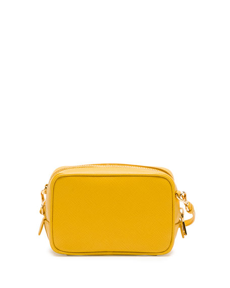 Saffiano Small Crossbody Bag, Yellow (Soleil)