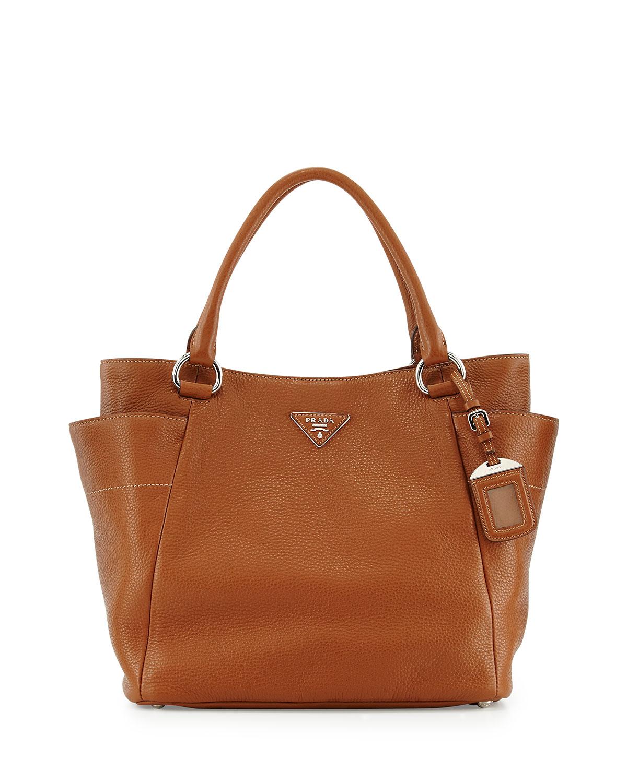 538cbe89e2 Prada Daino Side-Pocket Tote Bag