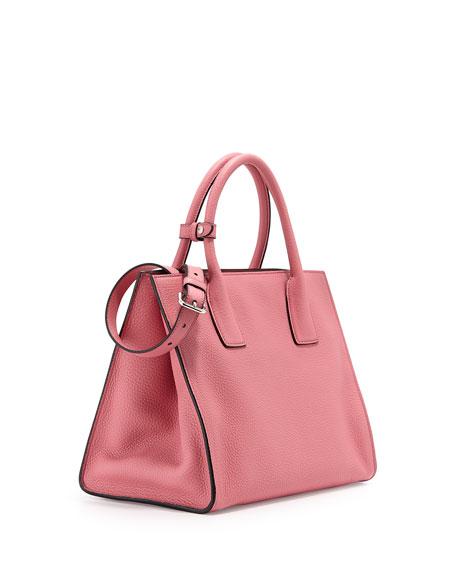 Prada Daino Twin-Pocket Tote, Light Pink (Begonia)