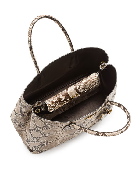 6d6aae7059 Prada Python Double Bag, Natural/Multi (Roccia)