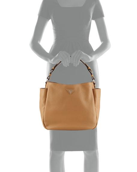 2e7bc2c21fd6 Prada Vitello Daino Single Strap Hobo Bag, Tan (Sesamo)