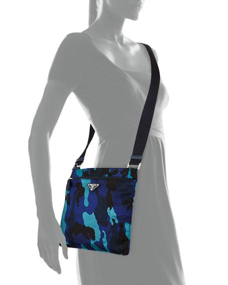 8536bdd372 Prada Tessuto Camo-Print Crossbody Bag