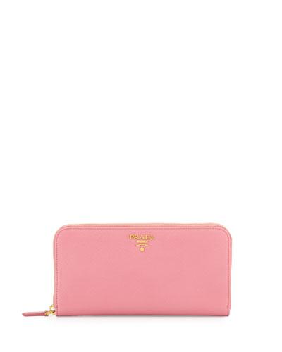 Saffiano Organizer Wallet, Light Pink (Geranio)