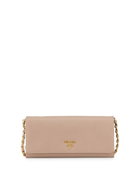 prada handbags replica sale - Prada Saffiano Wallet on Chain, Blush (Cammeo)