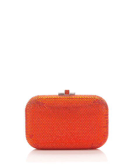 Crystal Slide-Lock Clutch Bag, Hyacinth