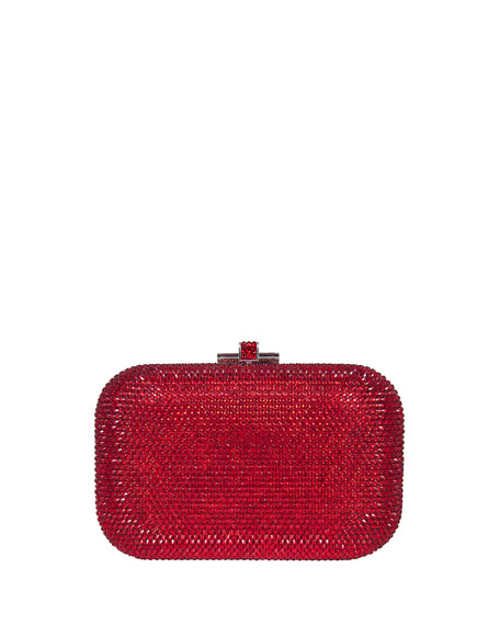 Judith Leiber Couture Crystal Slide-Lock Clutch Bag, Siam