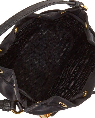 prada essuto drawstring bucket bag