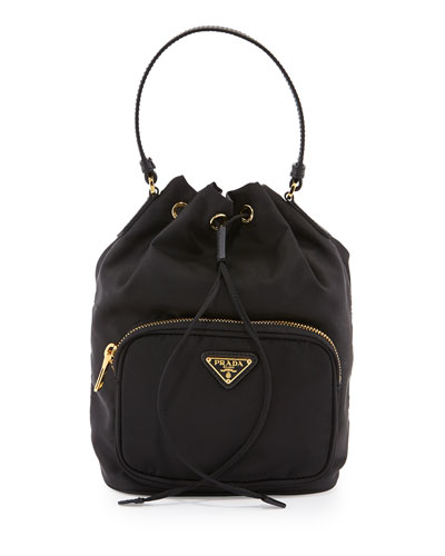 b6bf86c637aafd Prada Tessuto Mini Bucket Crossbody Bag, Black (Nero) Order Now ...