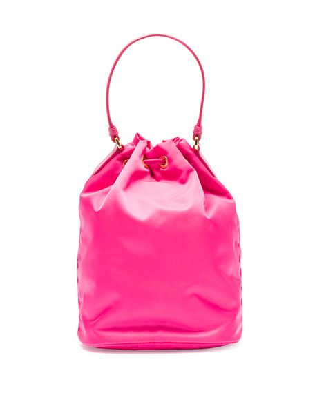 Tessuto Mini Bucket Crossbody Bag, Fuchsia (Fuxia)