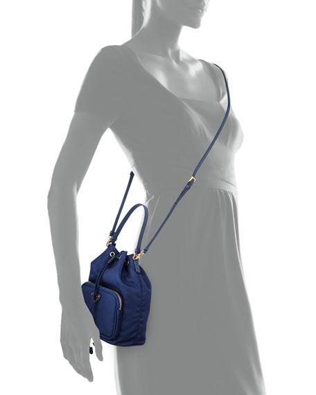 small black prada handbag - Prada Tessuto Mini Bucket Crossbody Bag, Royal Blue (Royal)
