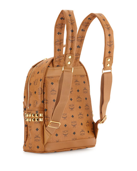 Stark Side Stud Small Backpack, Cognac