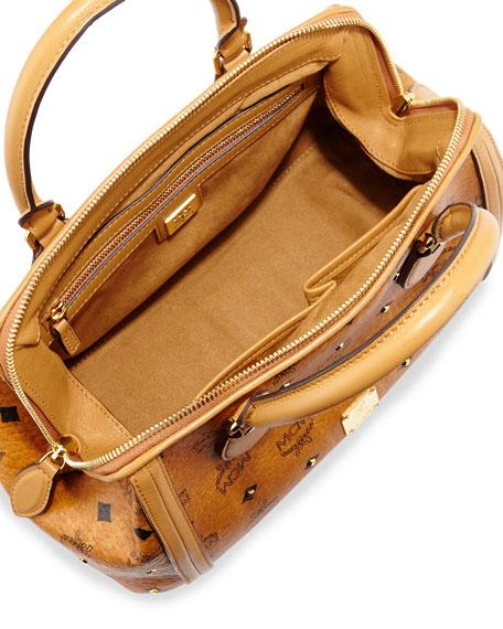 Gold Visetos Small Doctor Bag, Cognac