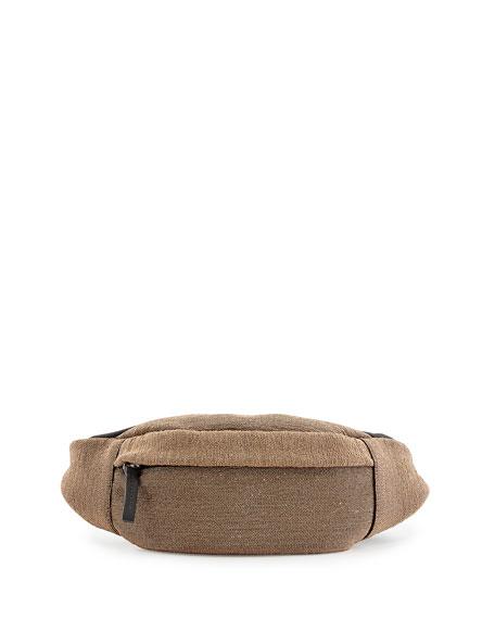 Monili Leather Belt Bag, Gold
