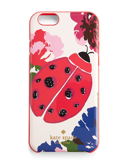ladybug iPhone 6 case, White/Multicolor