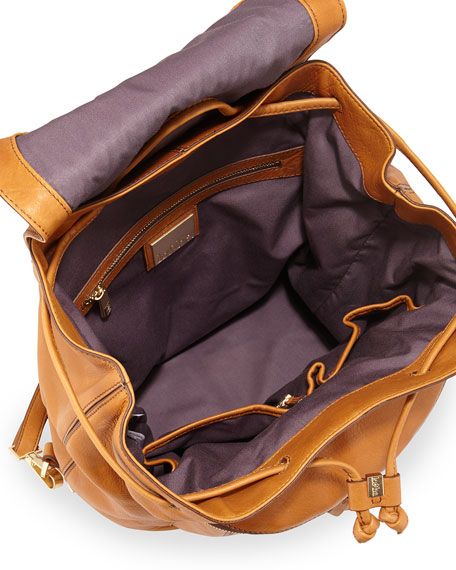 Steinbeck Leather Backpack, Sunset