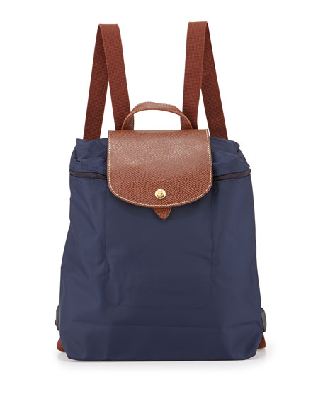 Longchamp Le Pliage Nylon Backpack, Navy