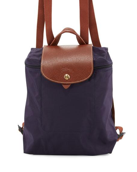 LongchampLe Pliage Nylon Backpack, Bilberry