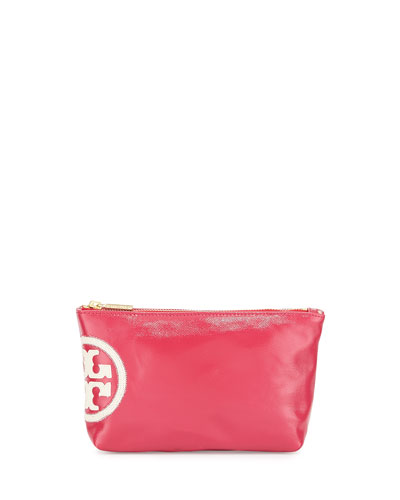 Dipped Beach Small Slouchy Cosmetics Case, Island Pink