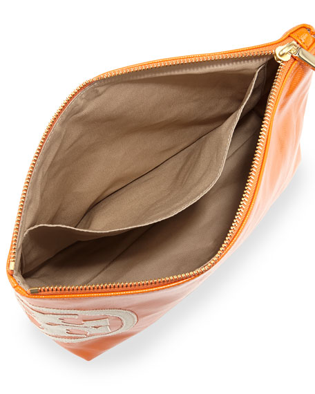 Dipped Beach Large Cosmetics Bag, Mandarin Orange