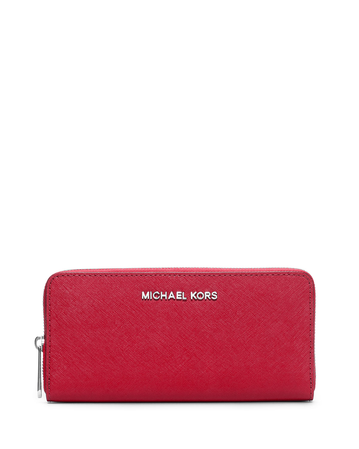 690f0fed4b95de MICHAEL Michael Kors Jet Set Zip-Around Continental Travel Wallet, Chili