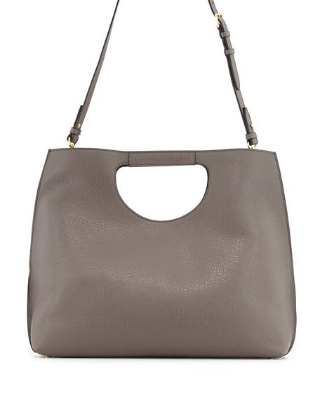 Alix Padlock & Zip Shoulder Tote Bag, Graphite