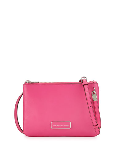 Ligero Double Percy Crossbody Bag, Fuchsia