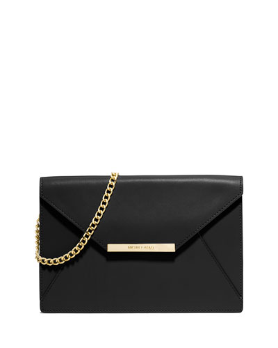 Lana Envelope Clutch Bag, Black