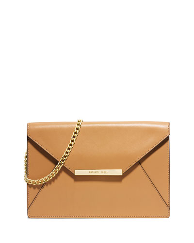 Lana Envelope Clutch Bag, Peanut