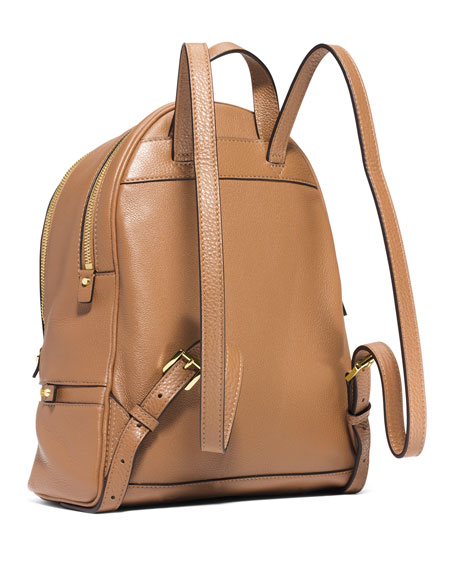 Rhea Small Zip Backpack, Peanut