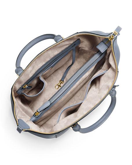 dadfc37ab7ce MICHAEL Michael Kors Riley Large Pebbled Leather Satchel Bag, Pale Blue