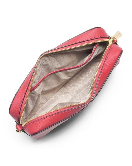 Jet Set Travel Large Saffiano Crossbody Bag, Watermelon