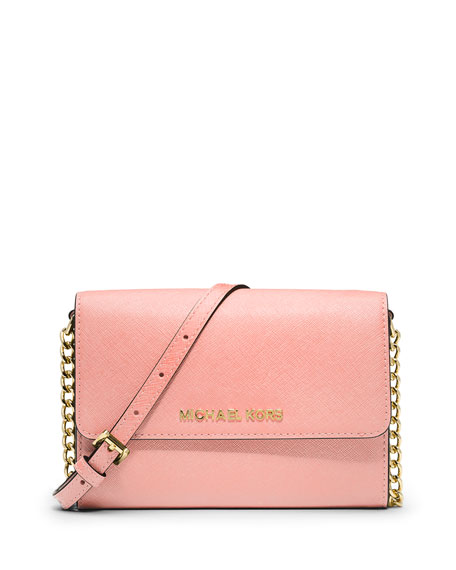 Jet Set Travel Large Phone Crossbody Bag, Pale Pink