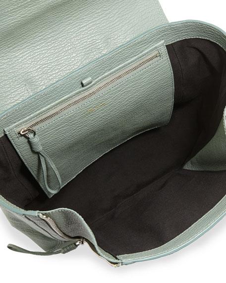 Pashli Leather Zip Backpack, Agave