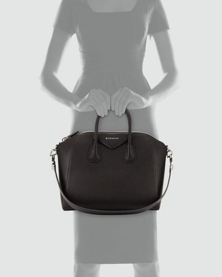 Givenchy Antigona Medium Sugar Goatskin Satchel Bag
