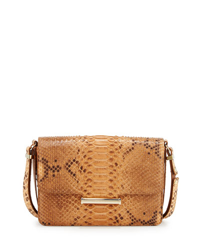 Diane Long Python Crossbody Bag, Natural