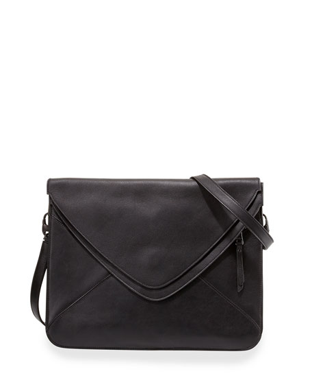 Slash 2.0 Leather Crossbody Bag, Black