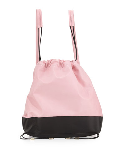 Sloppy Joe Two-Tone Backpack, Pink/Black